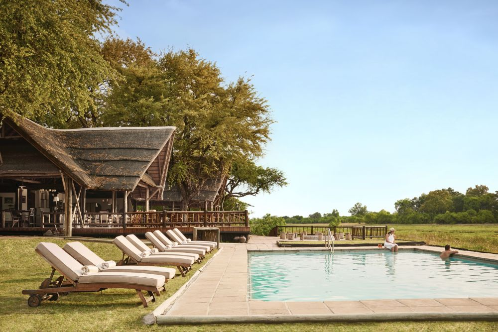 Poolbereich, Belmond Khwai River Lodge, Botswana Safari Reise