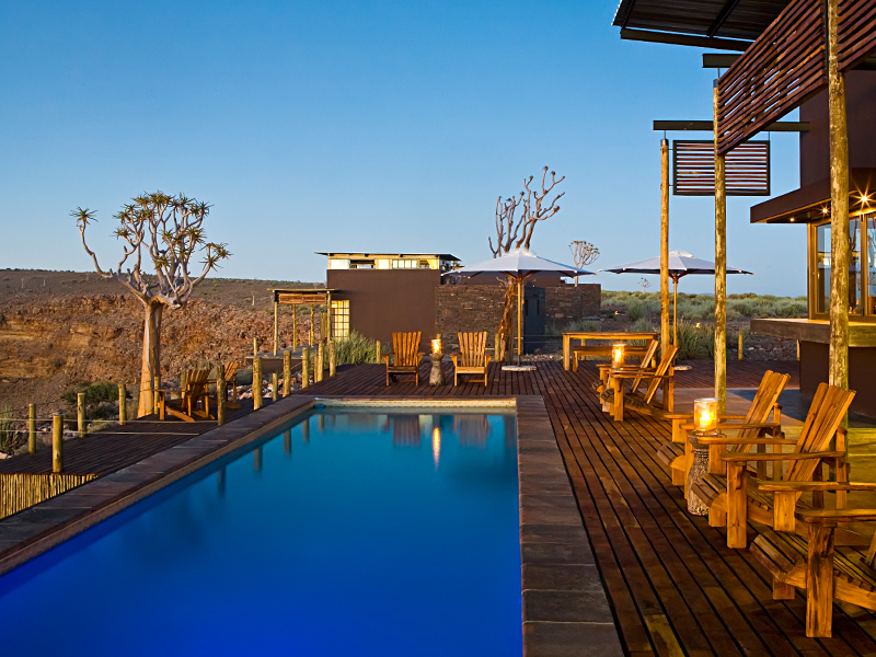 Luxusreise Namibia, Pool Fish River Lodge, Fish River Canyon
