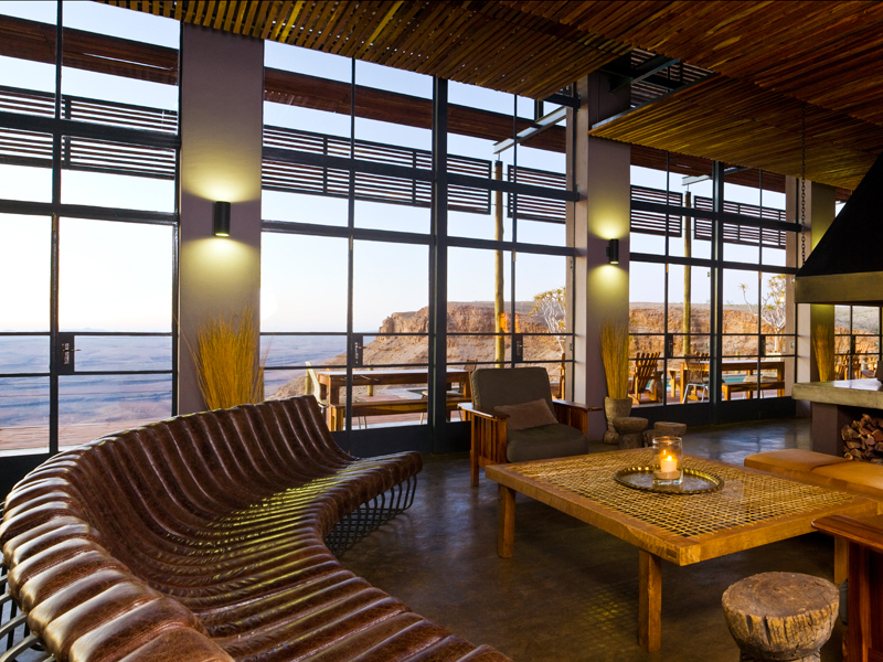 Lounge Fish River Lodge, Luxusreise Namibia
