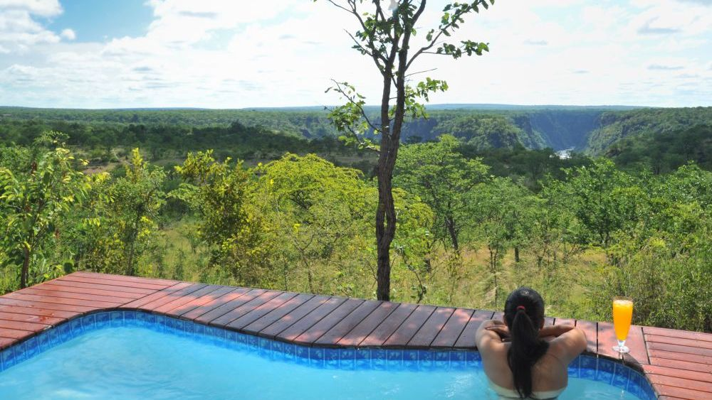 Pool The Elephant Camp, Simbabwe Rundreise