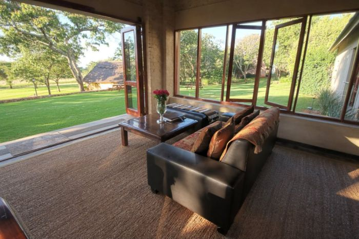 Lounge, Wild Geese Lodge, Simbabwe Rundreise
