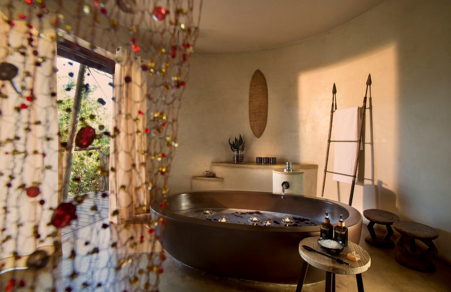 Badezimmer, Marataba Safari Lodge, Marakele Nationalpark, Südafrika Rundreise