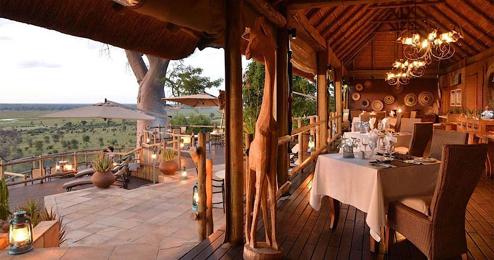 Restaurant, Ngoma Safari Lodge, Botswana Reise, Chobe Nationalpark