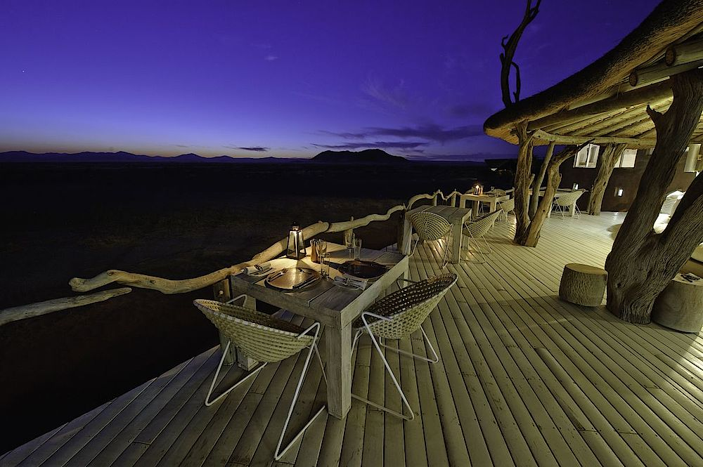 Terrasse Little Kulala Lodge, Namibia Luxusreise