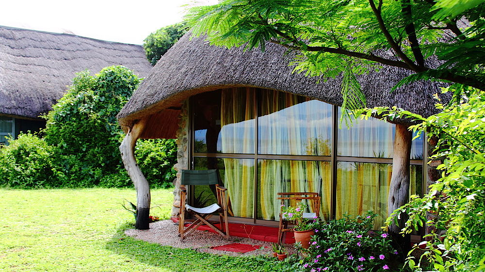 Rundreise Uganda, Bungalow, Lake Albert Lodge, Murchison Falls, Uganda