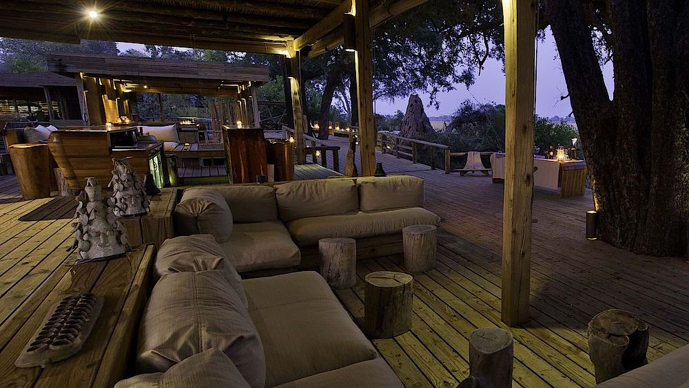 Abendstimmung im Vumbura Plains Camp, Botswana Rundreise