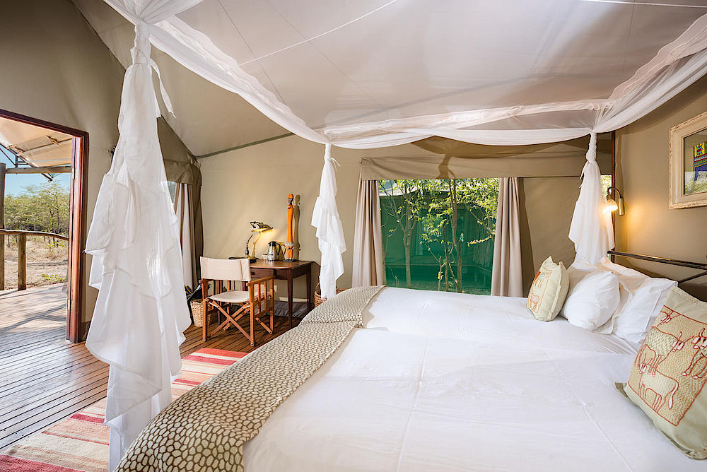 Privatreise Namibia, Schlafbereich Ongava Tented Camp