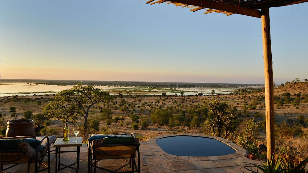 Pool Ngoma Safari Lodge, Botswana Safari Reise, Chobe River