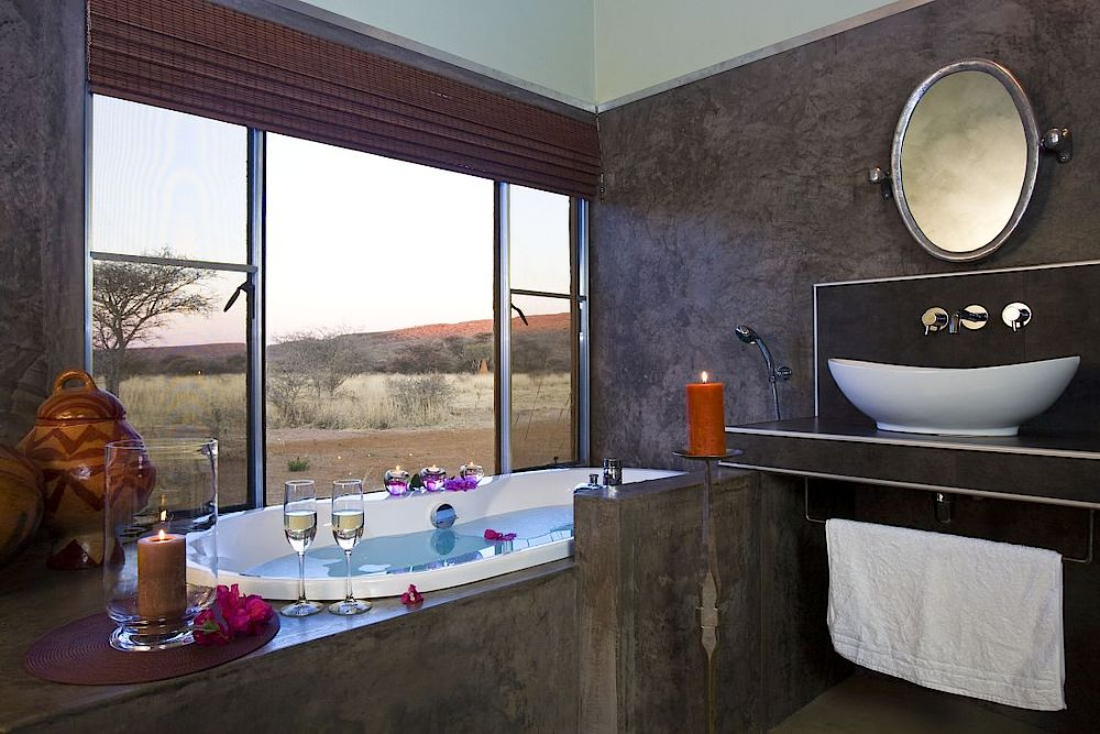 Badezimmer Okonjima Luxury Bush Camp, Namibia Luxusreise