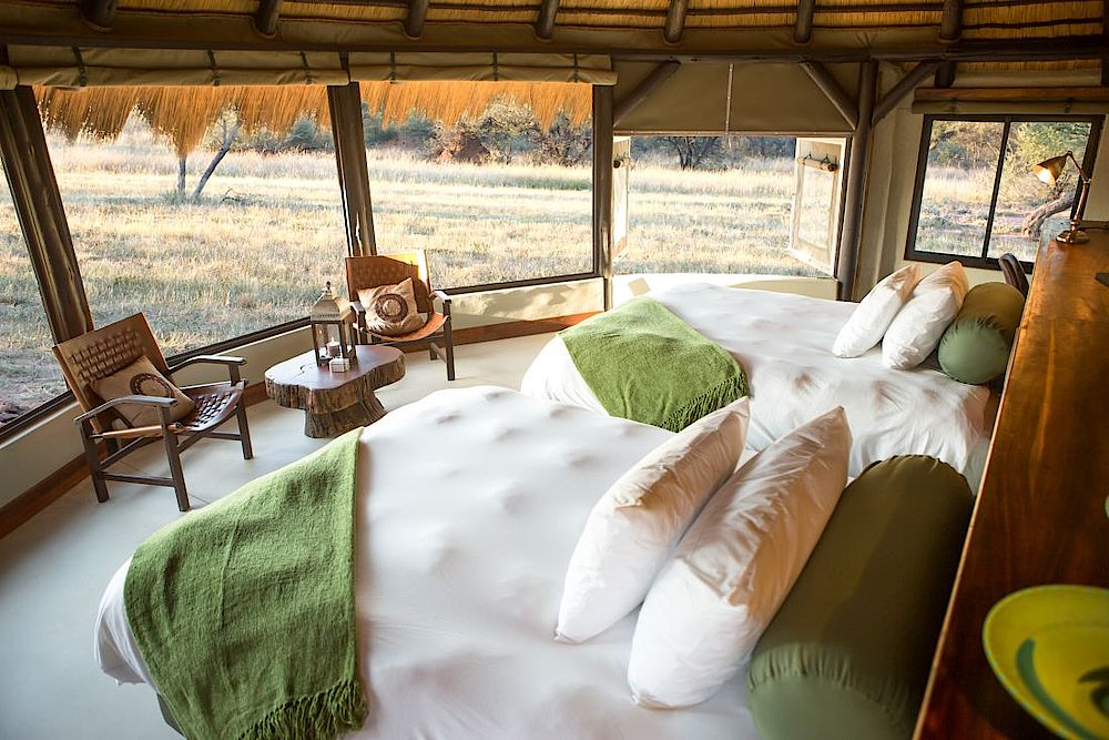Schlafbereich, Okonjima Luxury Bush Camp, Namibia Rundreise
