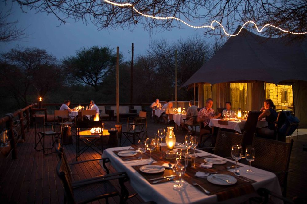 Dinner, Taranga Safari Lodge, Rundu, Namibia Reisen