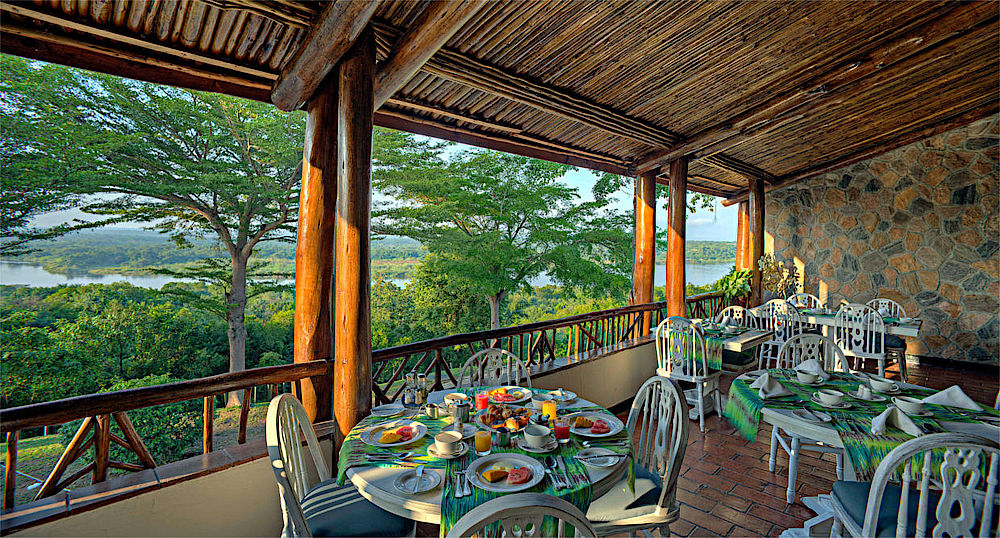 Rundreise Uganda, Essbereich, Paraa Safari Lodge, Murchison Falls National Park, Uganda