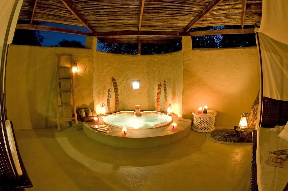 Wellnessbereich, Sanctuary Chobe Chilwero Lodge, Botswana Rundreise