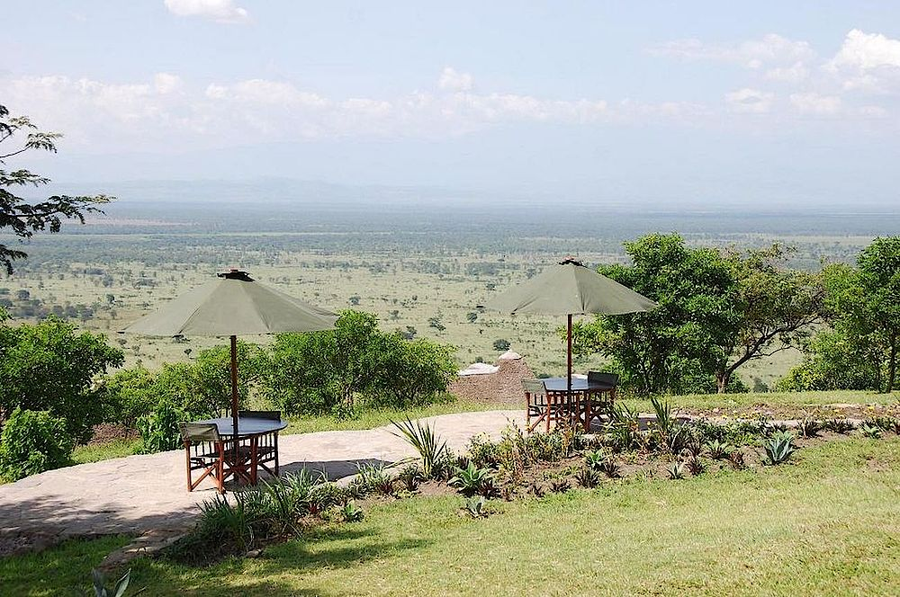 Privatreise Uganda, Aussichtsplattform, Katara Lodge, Queen Elizabeth National Park, Uganda