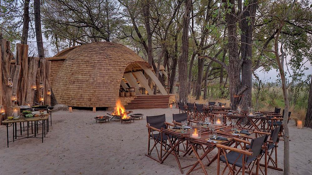 Rundreise Botswana, Luxus, Safari, &Beyond Sandibe Okavango Safari Lodge