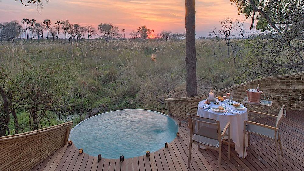 Rundreise Botswana, privater Pool &Beyond Sandibe Okavango Safari Lodge