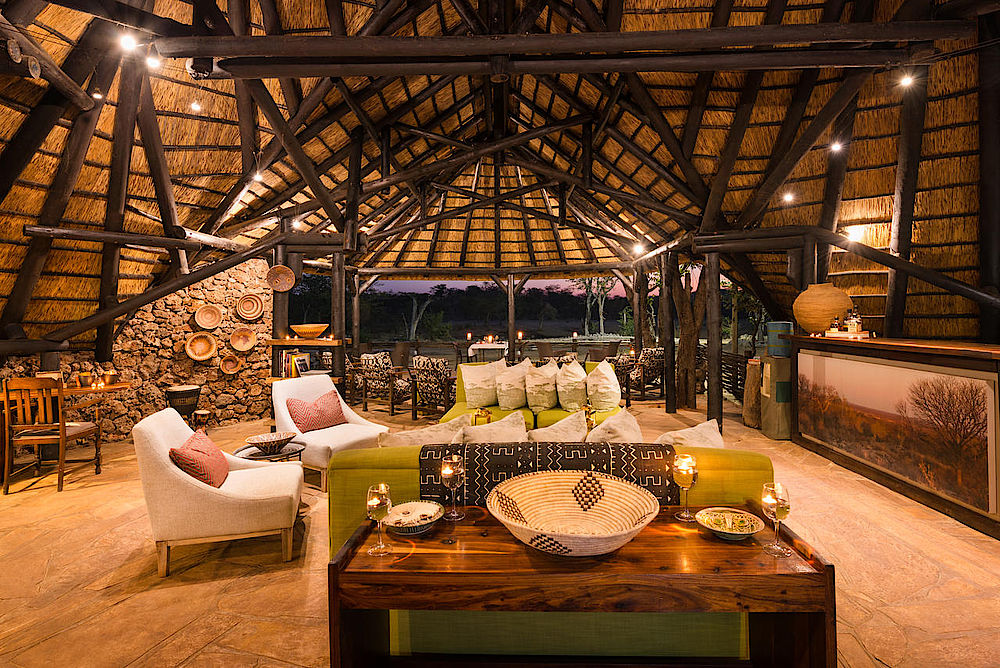 Privatreise Namibia, Ongava Tented Camp Lounge