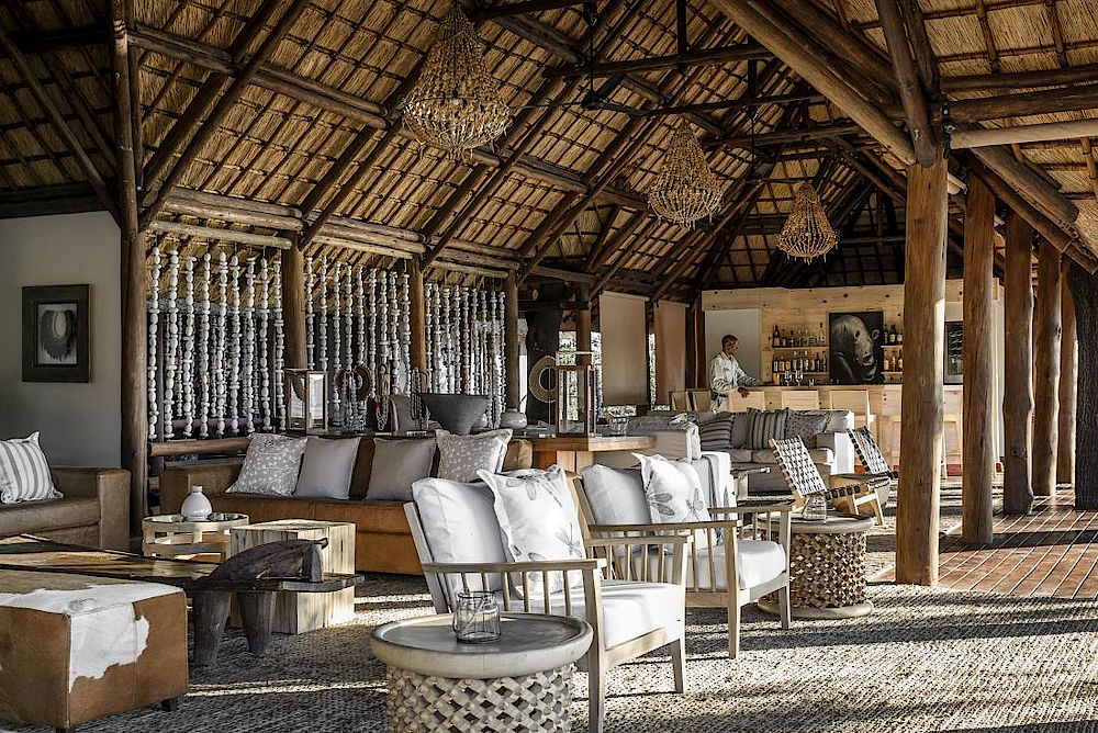 Rundreise Botswana, Lounge Sanctuary Chief's Camp