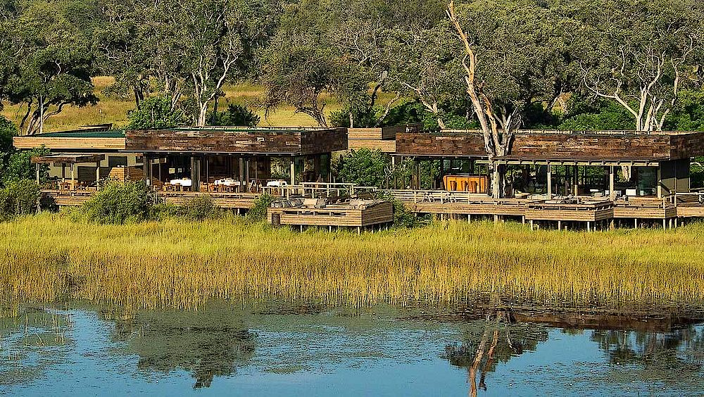 Lage des Vumbura Plains Camp, Botswana Reise