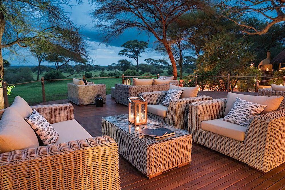 Privatreise Tansania, Lounge, Sanctuary Swala Camp, Tarangire Nationalpark, Tansania Safari