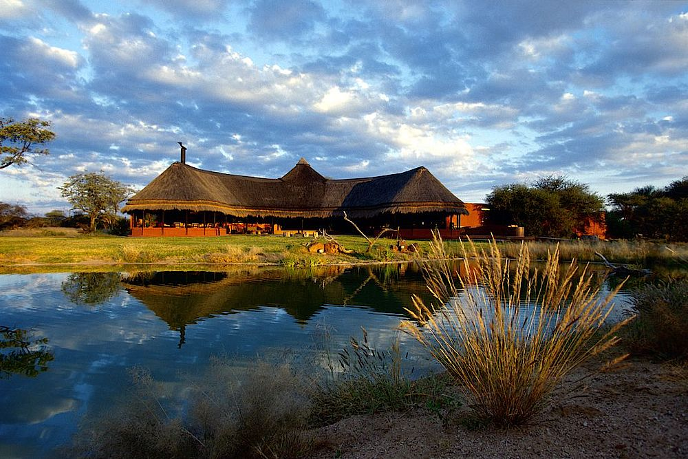 Blick zum Okonjima Luxury Bush Camp, Namibia Privatreise